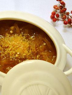 #Recetas de #Navidad - Navidad a la Carta - Sopa de Cebolla con Parmesano vegano