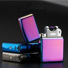 USB Lighter Electronic Cigarette Accessories Torch Lighter Pulsed Arc Lighter Windproof Thunder Metal Plasma Cigar Lighter   Price: 9.38 USD