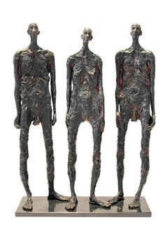 'Sentinels' By South African artist: Grace da Costa. www.gracedacosta.co.za Raise The Dead, South African Artists, Colouring Techniques, Inspiring Art, Bronze Sculpture, Student Work, Costa, Sculpting, Painting