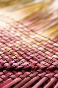 Woven Flax Mat Raranga Weaving Weaving Flax Weaving