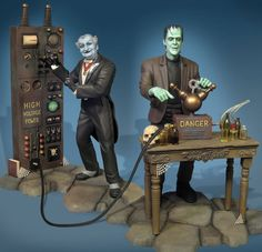 Michigan Toy Soldier Company : Moebius (USA) - The Munsters: Herman Munsters Tv Show, The Munsters, Munsters Grandpa, La Familia Munster, Gi Joe, Herman Munster, Famous Monsters, Scary Monsters, Frankenstein's Monster