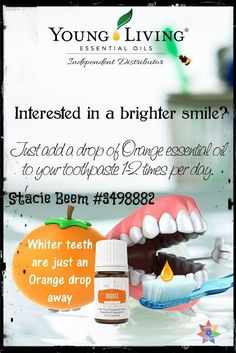 You Know I Love to Share: Teeth Whitening Natural Orange Essential Oil Young...