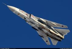 pass at full speed - Photo taken at Withheld in Russia in February, Fighter Aircraft, Fighter Jets, Su 24 Fencer, Sukhoi Su 24, Russian Air Force, Aircraft Pictures, Us Navy, Armed Forces, Military Aircraft