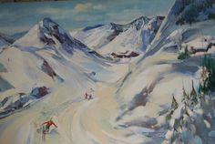 Skiing Scene by Tomaso, DAC Collection - Donald Art Company Collection
