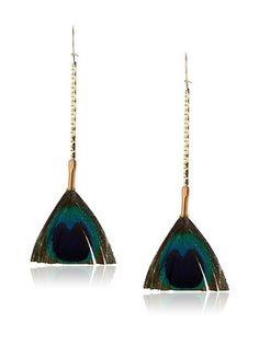 54% OFF Serefina Blue Mini Broom Earrings