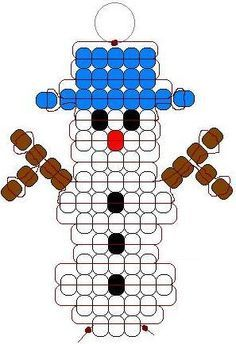 Christmas Pony Bead Patterns | ... lacing 19 blue pony beads 5 black pony beads 1 red orange pony bead