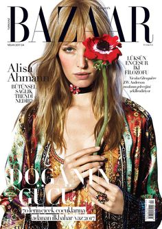 Alisa Ahmann on Harper's Bazaar Turkey April 2017 Cover