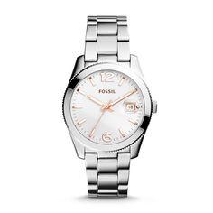 Fossil Perfect Boyfriend Three-Hand Date Stainless Steel Watch