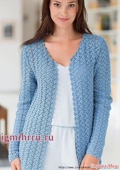 Free crochet diagram for cardigan. T-shirt Au Crochet, Cardigan Au Crochet, Crochet Jacket Pattern, Pull Crochet, Mode Crochet, Crochet Coat, Crochet Shirt, Knitted Coat, Crochet Clothes