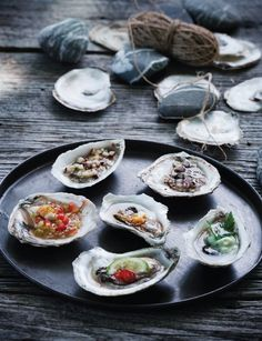 Oysters: Nordic, French, Russian, Japanese, Thai  American, Sweet Paul Magazine - Fall 2012 - Page 106-107