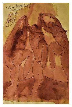 """stonelantern: """"Three dancers by stonelantern """""""