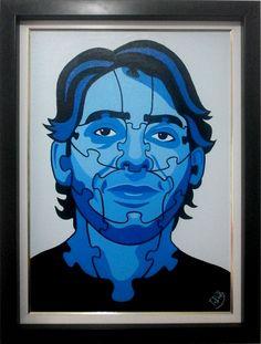 Pedaços de mim - Auto retrato. Acrílica sobre tela, 50x70cm, 2012.