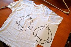 DIY Disney Big Hero 6 Baymax shirts