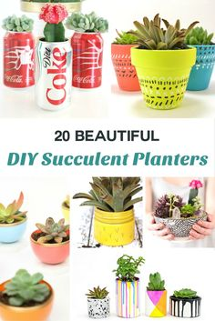Do you need an idea for unique succulent planter? You're going to love these 20 beautiful DIY projects - customize to match with your decor!