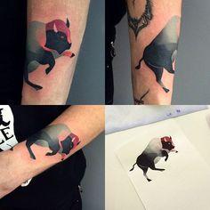 Buffalo tattoo on the forearm. Tattoo Drawings, Body Art Tattoos, Girl Tattoos, Bison Tattoo, Convention Tattoo, Just Ink, Tattoo Project, Tattoos Gallery, Beautiful Tattoos