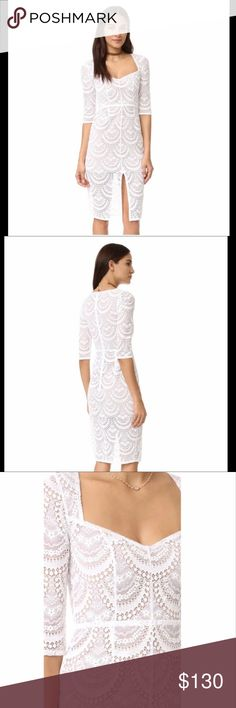 For Love & Lemons Rosalita Dress Brand new with tags. Color: White. Size: XS For Love and Lemons Dresses Midi