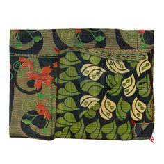 My design inspiration: Vintage Kantha Quilt Navy & Pink on Fab.