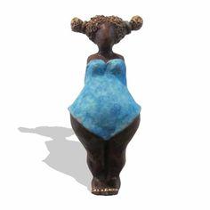 Brons beeld 'Sientje hoog en droog' sculptuur bronzen sculpturen kunst