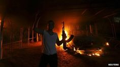 An armed man at the US Consulate in Benghazi on 11 September 2012