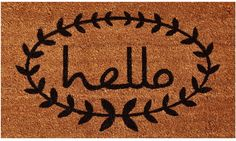 Home & More Calico Hello Outdoor Doormat - Patio and entry decors gain a lovely welcome with the Home & More Calico Hello Outdoor Doormat . Made of 100% natural coir, the natural coloring...