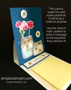 Stampin' Up! Easel Card using the Jar of Love Bundle, Petal Burst Embossing…