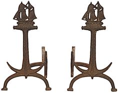 andirons House By The Sea, My House, Fireplace Mantels, Fireplaces, Types Of Fire, Mantel Ideas, Fire Equipment, Beach Shack, Fireplace Accessories