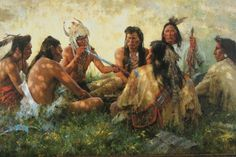 Howard Terpning-Crow Pipe Ceremony