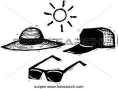 Sun Protection View Large Clip Art Graphic