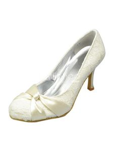 851a502cad6 Fabulous Ivory Lace Round Toe Bridal Shoes. See More Bridal Shoes at http
