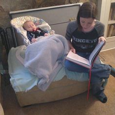 Aunt Layla reads Harry Potter to Ryker each time he visits. by loriingwerson
