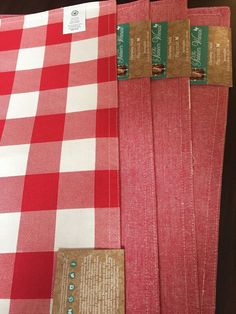 The Pioneer Woman Charming Check Reversible Placemat, Red Set Of 4 #ThePioneerWoman