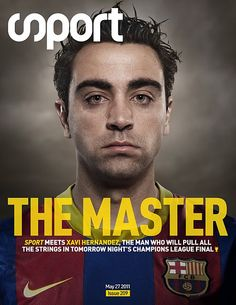 Xavi  One of the most skilled footballers out there. The best midfielder in controlling the tempo of the game.