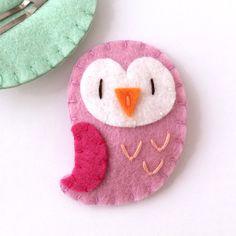 Baby Hair Clips Owl Hair Clip Owl Hair by MangoMommyHairClips