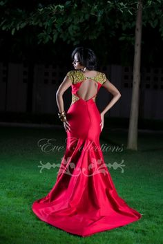In-Love-With-Red-Eve-Collections-Tanzania-fashionghana african fashion African Dresses For Women, African Print Fashion, African Attire, African Wear, African Fashion Dresses, African Women, African Prints, African Style, Ethnic Fashion