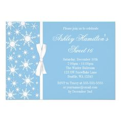 15 best winter wonderland sweet 16 invitations images on pinterest