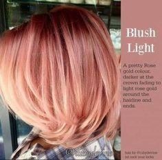 Rock Your Locks Hair Color 131835 Pin by Nichole James On Cool and Crazy Hair St. Rock Your Locks Gold Hair Colors, Ombre Hair Color, New Hair Colors, Hair Colour, Ombre Rose Gold, Hair Color Images, Red To Blonde, Rose Gold Blonde, Brunette Hair