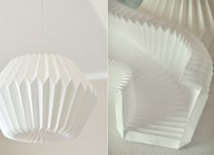 Origami lamp bricolage 24 ideas for 2019 Origami Design, Diy Origami, Origami Lampshade, Paper Lampshade, Origami Wedding, Origami And Kirigami, Origami Paper Art, Useful Origami, Origami Tutorial