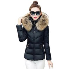 2016 New Women Winter Jacket Fashion Short Paragraph Parkas Hot ...