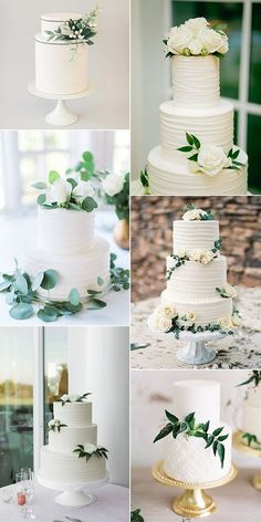 trending white and green wedding cakes for 2018 #weddingcakes #simplewedding #weddingcolors #weddingideas