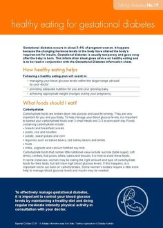 gestational diabetes diet plan