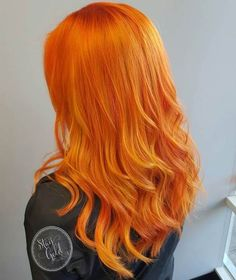 Orange-Y Red Hair Color