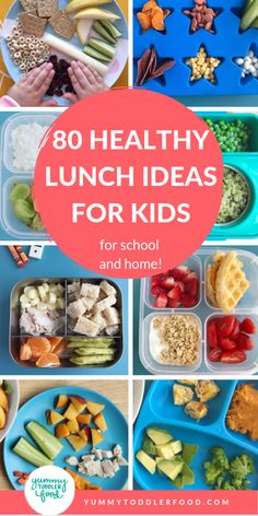 Toddler meals 738379301390466352 - Make serving healthy toddler lunches quick and easy with this master list of lunch ideas for kids—whether to eat at home or to send as a school lunch. Source by nomlist Healthy Toddler Lunches, Toddler Snacks, Healthy Kids, Kids Dinner Ideas Healthy, Home Lunch Ideas, Toddler Dinners, Kid Snacks, Lunch Snacks, Eat Healthy
