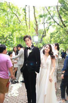 Korean Drama Funny, Korean Wedding Photography, Big Crush, Handsome Faces, Thai Drama, Bridesmaid Dresses, Wedding Dresses, Chemistry, Thailand