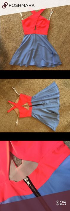 Naven cross cross vixen dress cut out skater small This dress has only been worn once! Size small. Naven Dresses Mini