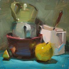 """Daily Paintworks - """"The Kitchen Sink"""" - Original Fine Art for Sale - © Carol Marine"""