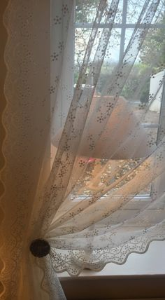 Excited to share the latest addition to my shop: Gypsophelia sheer curtain panel