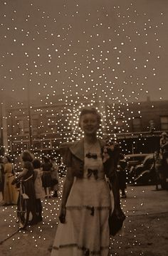 Hauntingly Beautiful Vintage Photos Covered in Dots of Light