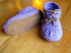 Toddler Double Sole Moccasins - Free Crochet Pattern