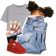 A fashion look from August 2016 featuring Hilfiger t-shirts and Puma shoes. Browse and shop related looks.