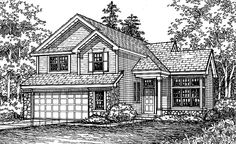 Cottage House Plan with 2245 Square Feet and 4 Bedrooms from Dream Home Source | House Plan Code DHSW27135
